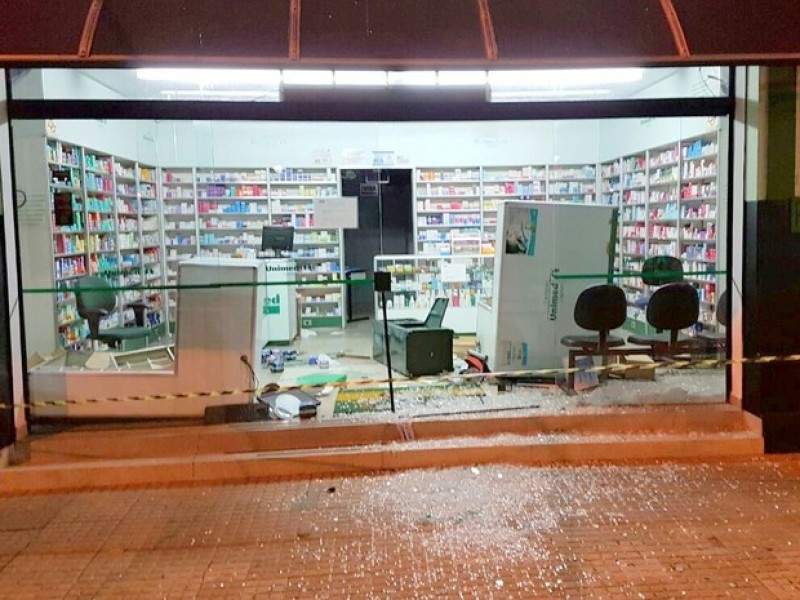 Farmácia alvo de ataque da quadrilha em Capivari       Imagem: Tony Machado