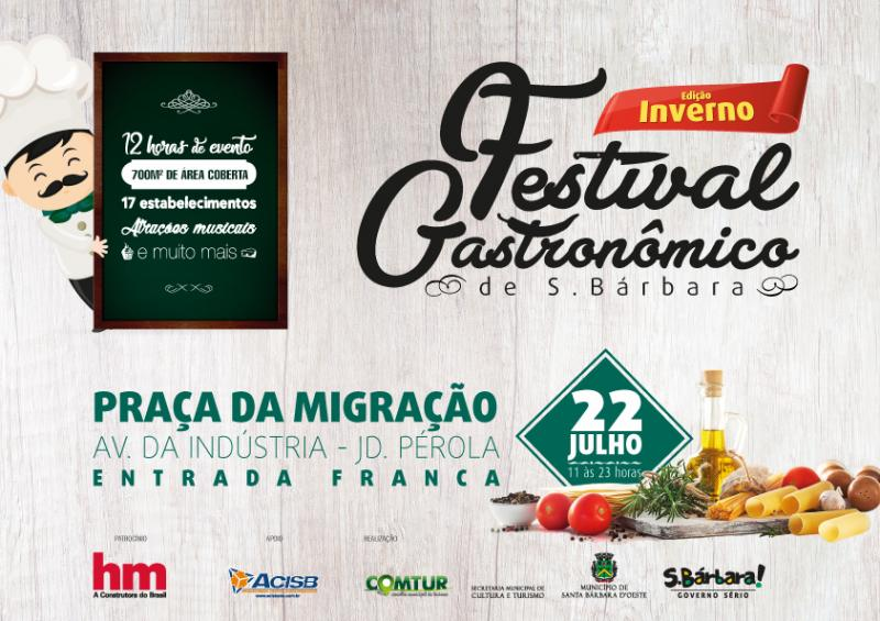 Lançamento Festival Gastronômico de Inverno de SBO. Evento vai acontecer dia 22/7/2017, das 11h às 23h, na Praça da Migração, do Jardim Pérola, com comidas, bebidas e shows - Museu da Imigração